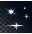 light effect stars vector image