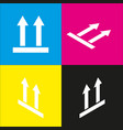 logistic sign of arrows white icon with vector image vector image