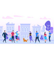 men and woman walking in city urban lifestyle vector image vector image