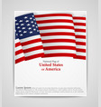 national flag brochure of united states of america vector image