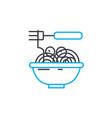 noodles linear icon concept noodles line vector image