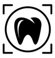 one tooth icon simple style