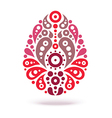 Ornamental floral decorative easter egg vector image