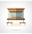 Outdoor party building flat color icon vector image vector image