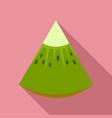 piece of kiwi icon flat style vector image vector image