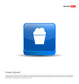 popcorn exploding inside the packaging icon - 3d vector image