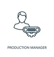 production manager outline icon thin line concept vector image