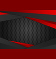 red and black color geometric background abstract vector image vector image