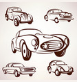 retro cars collection deign elements fro labels vector image vector image