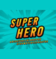 retro super hero comic fun font design vector image