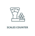 scales countershop line icon linear vector image vector image