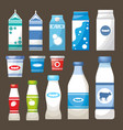 set dairy products vector image vector image