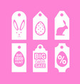 set of easter sale signs shopping holiday special vector image vector image