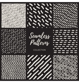 Set of Eight Seamless Lines Patterns vector image vector image