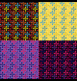 set seamless repeating patterns from color vector image vector image