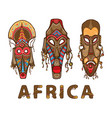 set traditional african masks vector image vector image