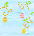 simple flat with easter eggs suitable for vector image vector image