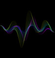 sound wave rhythm background spectrum color vector image vector image