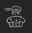sprinkle for baking chalk white icon on dark vector image vector image