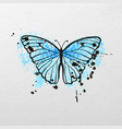 stylized blue butterfly vector image vector image