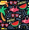 summer beach seamless pattern background vector image