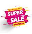 super sale banner template design vector image