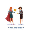 superhero business ladies background vector image