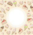 sweets frame vector image vector image