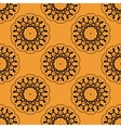 Symmetric seamless wallpaper pattern based on vector image vector image