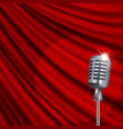 theater stage with microphone vector image