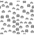 types of city transport seamless pattern vector image vector image