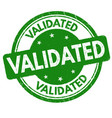 validated sign or stamp vector image vector image