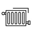 warm radiator icon outline style vector image
