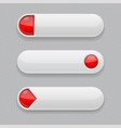 web buttons white icons with red tags vector image vector image