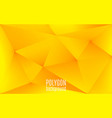 yellow abstract geometric background polygon vector image vector image