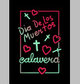calavera greeting frame vector image