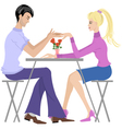 Couple in cafe vector image