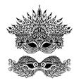 Decorative Carnival Mask vector image