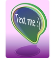 text me sticker vector image