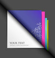 white paper and colored paper background vector image