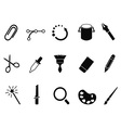 graphic design tools icon set vector image