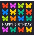 Set of colorful Paper Butterfly over dark vector image