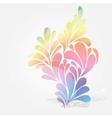 Splash of floral and ornamental drops background vector image