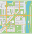 abstract city map with river vector image vector image