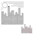 abstract labyrinth silhouette of the city an vector image