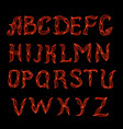 Abstract red plexus neon font