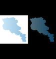 armenia map hex-tile mosaic vector image vector image