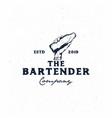 bartender vintage logo vector image