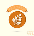 branch with leaves symbol icon geometry teaching vector image