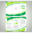 brochure design template folder leaflet green vector image vector image